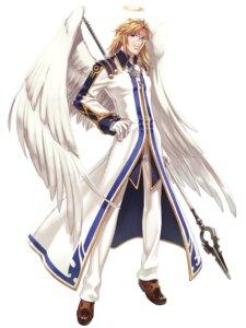 Rating: Safe Score: 3 Tags: angel blazing_souls hirano_katsuyuki isak male megane wings User: Radioactive