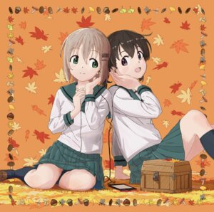 Rating: Safe Score: 13 Tags: disc_cover kuraue_hinata seifuku yama_no_susume yukimura_aoi User: LiHaonan