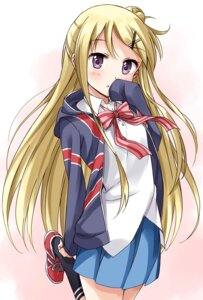 Rating: Safe Score: 33 Tags: kin'iro_mosaic kujou_karen moso seifuku User: Radioactive