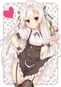 Rating: Questionable Score: 115 Tags: pantsu ryo_(botsugo) skirt_lift stockings thighhighs waitress User: blooregardo