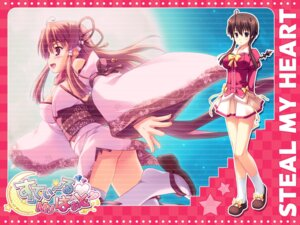 Rating: Safe Score: 21 Tags: cleavage momochi_aeka palette seifuku steal_my_heart tamahiyo wallpaper User: topcdmouse