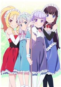 Rating: Safe Score: 39 Tags: cleavage crossover eromanga-sensei izumi_sagiri maid makicha new_game! pointy_ears suzukaze_aoba takimoto_hifumi yamada_elf User: yanis