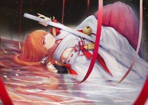 Rating: Safe Score: 23 Tags: code:_dragon_blood marumoru miko sword wet User: Dreista