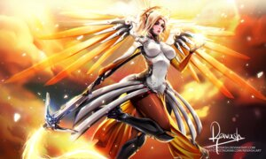 Rating: Safe Score: 13 Tags: bodysuit mercy_(overwatch) official_watermark overwatch reivash weapon wings User: charunetra