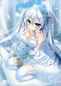 Rating: Questionable Score: 72 Tags: cleavage dress nae-nae stockings thighhighs wedding_dress User: Hatsukoi