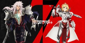 Rating: Questionable Score: 12 Tags: armor fate/apocrypha fate/stay_night mordred_(fsn) saber_of_red_(fate/apocrypha) siegfried sword tagme User: kiyoe