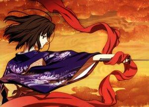 Rating: Safe Score: 19 Tags: kara_no_kyoukai kimono ryougi_shiki sword takeuchi_takashi type-moon User: fireattack