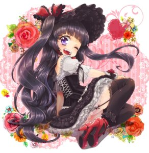 Rating: Safe Score: 18 Tags: dress gothic_lolita lolita_fashion n_saki stockings thighhighs User: Nekotsúh