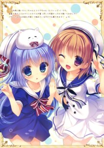 Rating: Questionable Score: 52 Tags: gochuumon_wa_usagi_desu_ka? hoto_cocoa kafuu_chino peach_candy seifuku tippy_(gochuumon_wa_usagi_desu_ka?) yukie User: Twinsenzw