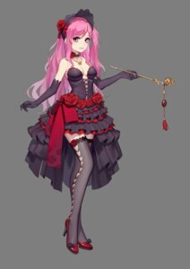 Rating: Safe Score: 22 Tags: cleavage dress heels jimolianzhanji lolita_fashion no_bra thank_star thighhighs User: Mr_GT