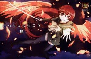 Rating: Safe Score: 4 Tags: hasegawa_shinya seifuku shakugan_no_shana shana sword thighhighs wings User: Radioactive
