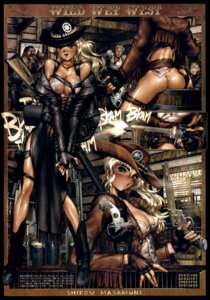 Rating: Questionable Score: 26 Tags: ass cleavage erect_nipples gun nopan shirow_masamune User: nanashioni