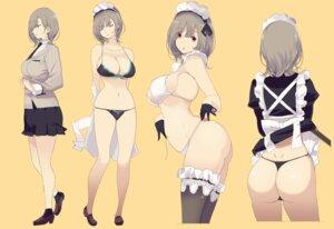 Rating: Questionable Score: 41 Tags: ass bikini heels maid mikoto_akemi seifuku skirt_lift swimsuits thighhighs thong User: saemonnokami