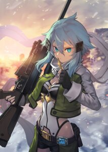 Rating: Safe Score: 40 Tags: cleavage gun nakamura_eito sinon sword_art_online User: Mr_GT