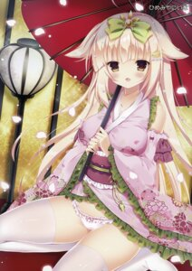 Rating: Questionable Score: 46 Tags: himemiya_niina japanese_clothes pantsu thighhighs umbrella User: Hatsukoi