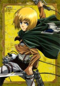 Rating: Safe Score: 12 Tags: armin_arlelt male shingeki_no_kyojin sword tomita_megumi uniform User: drop