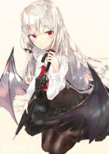 Rating: Safe Score: 43 Tags: pantyhose sakusyo sophie_twilight tonari_no_kyuuketsuki-san umbrella wings User: BattlequeenYume
