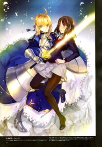 Rating: Questionable Score: 32 Tags: armor dress fate/stay_night heels pantyhose saber sajyou_ayaka seifuku sword type-moon weed_(astarone) User: drop