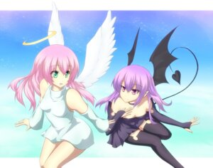 Rating: Safe Score: 21 Tags: dress garuku thighhighs wings User: charunetra