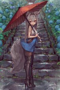 Rating: Safe Score: 52 Tags: animal_ears grin_grin heels kitsune pantyhose tail thighhighs umbrella User: Mr_GT