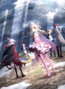 Rating: Safe Score: 57 Tags: bazett_fraga_mcremitz buruma digital_version fate/kaleid_liner_prisma_illya fate/stay_night gym_uniform heels illyasviel_von_einzbern kuroe_von_einzbern no_bra sword tanaka_(fate/prisma_illya) thighhighs torn_clothes weapon User: blooregardo