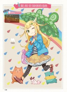 Rating: Safe Score: 19 Tags: horns madoromi-chan madoromi-chan_ga_iku. namo umbrella User: yu33960