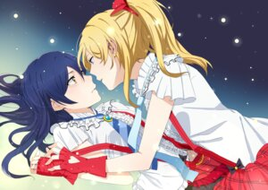 Rating: Safe Score: 25 Tags: ayase_eli huakuiliehuo love_live! sonoda_umi yuri User: Radioactive