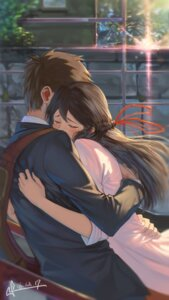 Rating: Safe Score: 40 Tags: business_suit kimi_no_na_wa miyamizu_mitsuha signed squidsmith tachibana_taki User: mash
