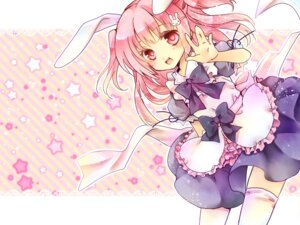 Rating: Safe Score: 21 Tags: animal_ears bunny_ears maid thighhighs yuh User: inumimi.7