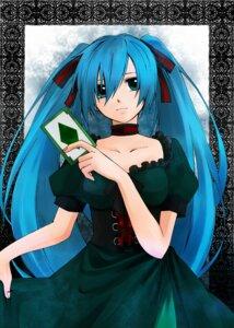 Rating: Safe Score: 6 Tags: hatsune_miku hitobashira_alice_(vocaloid) kamimu vocaloid User: charunetra