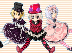 Rating: Safe Score: 5 Tags: lolita_fashion lunasa_prismriver lyrica_prismriver merlin_prismriver nagare touhou User: charunetra