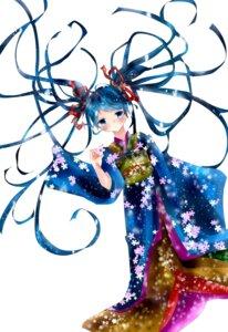 Rating: Safe Score: 13 Tags: hatsune_miku hoshino_kisora kimono vocaloid User: Radioactive