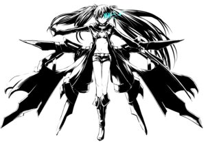 Rating: Questionable Score: 22 Tags: black_rock_shooter black_rock_shooter_(character) monochrome realmbw vocaloid User: cattypkung