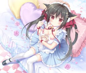 Rating: Safe Score: 67 Tags: animal_ears cleavage dress korie_riko nekomimi tail thighhighs User: Mr_GT