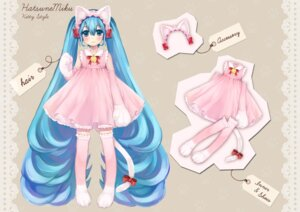 Rating: Safe Score: 15 Tags: animal_ears dress hatsune_miku nekomimi sususuyo tail thighhighs vocaloid User: Nekotsúh