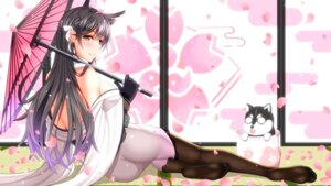 Rating: Questionable Score: 59 Tags: animal_ears ass atago_(azur_lane) azur_lane feet japanese_clothes open_shirt shirouzu_myuuta thighhighs umbrella User: MurakumoJP