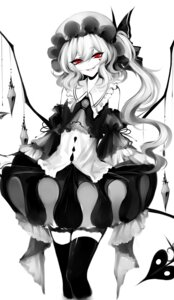 Rating: Safe Score: 22 Tags: flandre_scarlet monochrome sheya thighhighs touhou wings User: Mr_GT