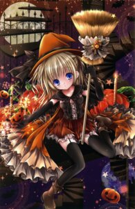 Rating: Questionable Score: 24 Tags: halloween mubi_alice pantsu see_through stockings string_panties thighhighs witch User: kaguya940385