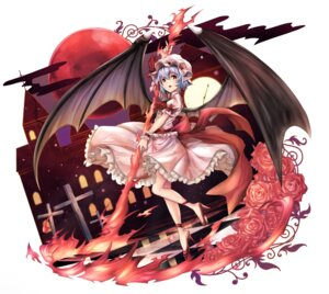 Rating: Safe Score: 30 Tags: heels pointy_ears remilia_scarlet touhou untsue weapon wings User: Mr_GT