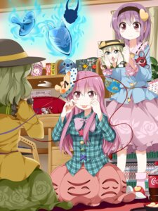 Rating: Safe Score: 21 Tags: hata_no_kokoro komeiji_koishi komeiji_satori lilo_and_stich stich touhou tsurukou User: dyj