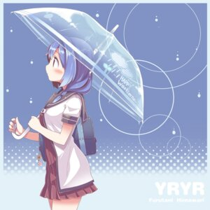 Rating: Safe Score: 30 Tags: furutani_himawari seifuku takahero umbrella yuru_yuri User: Mr_GT