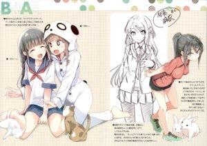 Rating: Safe Score: 30 Tags: mizoguchi_keiji neko ntype pajama pantyhose seifuku seishun_buta_yarou_series sketch sweater User: kiyoe