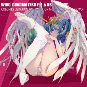 Rating: Questionable Score: 57 Tags: anthropomorphization endless_waltz feet grandialee gundam mecha_musume pantsu pantyhose shimapan undressing wing_gundam_zero wings User: Mr_GT