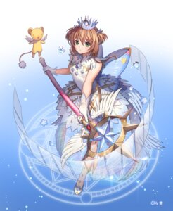 Rating: Safe Score: 27 Tags: card_captor_sakura dress hc_(razel1) kerberos kinomoto_sakura weapon wings User: RyuZU