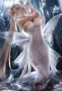 Rating: Safe Score: 121 Tags: cleavage dress garter princess_serenity sailor_moon sakimichan see_through stockings thighhighs wings User: Lesage