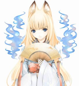 Rating: Safe Score: 19 Tags: animal_ears houden_eizou kimono kitsune tenko_kuugen wagaya_no_oinari-sama User: Radioactive