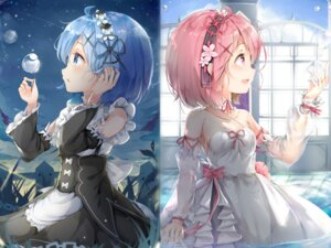 Rating: Safe Score: 47 Tags: cleavage dress gothic_lolita lolita_fashion maid no_bra pedo0201 ram_(re_zero) re_zero_kara_hajimeru_isekai_seikatsu rem_(re_zero) see_through wet wet_clothes User: yanis