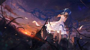 Rating: Safe Score: 64 Tags: dress hatsune_miku landscape sombernight vocaloid wallpaper User: Mr_GT