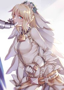Rating: Safe Score: 15 Tags: armor bodysuit fate/grand_order saber_bride saber_extra yorukun User: mash