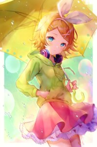 Rating: Safe Score: 15 Tags: bini headphones kagamine_rin skirt_lift umbrella vocaloid User: yanis